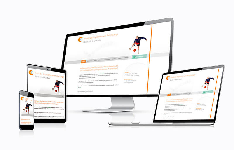 Physiotherapie Antje Lange - Responsive Website