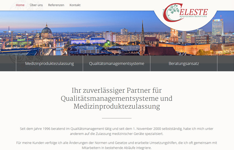 Celeste Managementberatung - Website