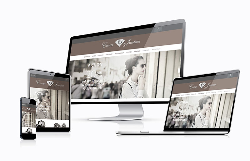 Center Juwelen - Responsive Website