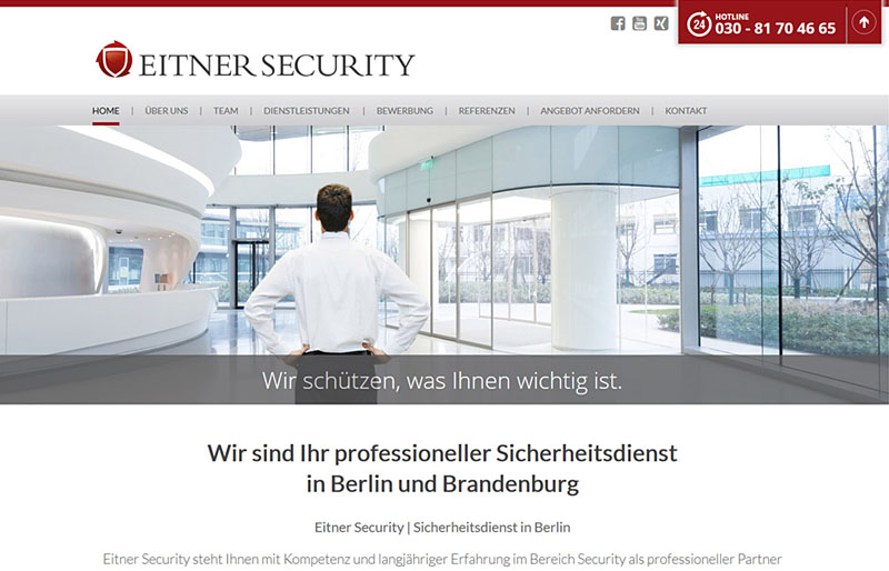 Eitner Security - Website