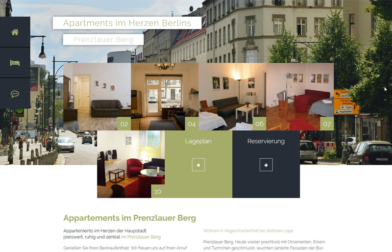 Webdesign referenzen apartments berlin prenzlauer berg bureau