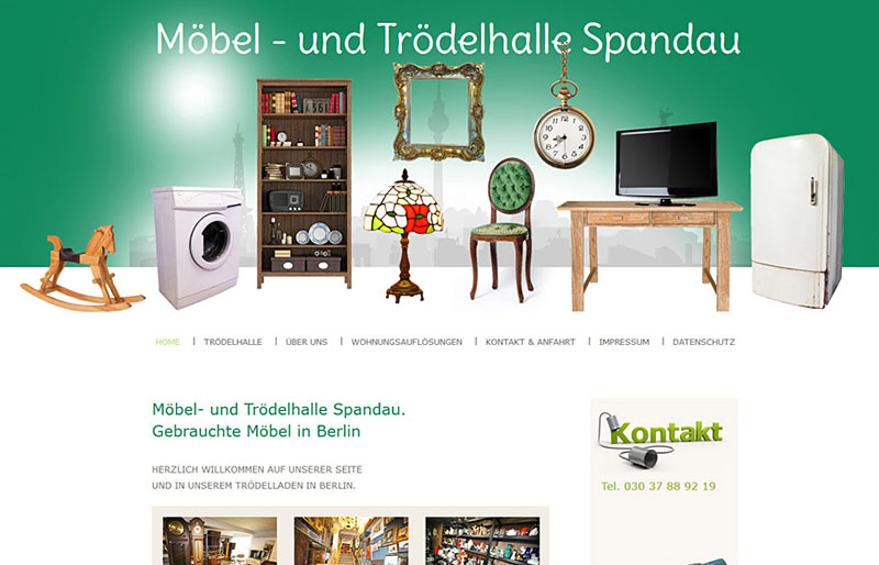 webdesign referenzen gebrauchte m bel tr delhalle berlin spandau. Black Bedroom Furniture Sets. Home Design Ideas