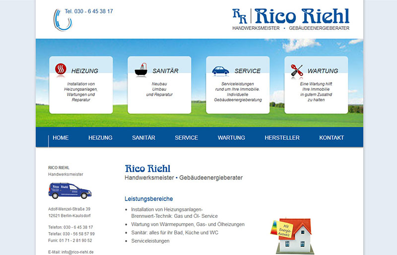 Rico Riehl - Website