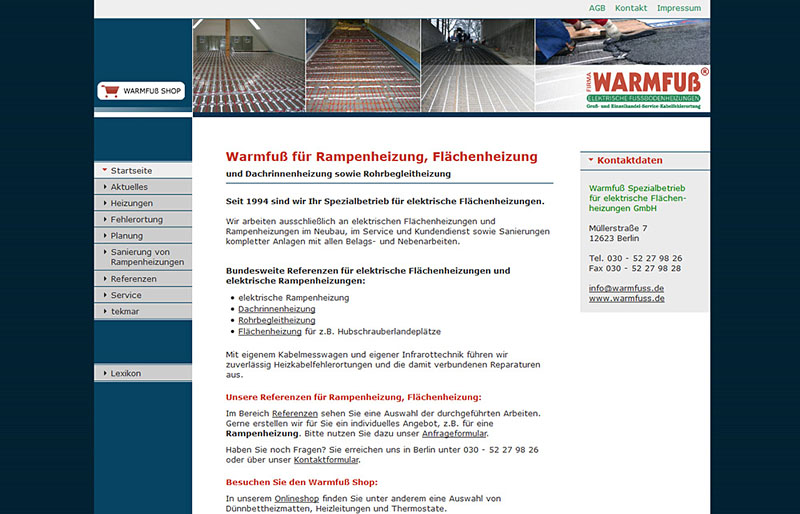 Warmfuß GmbH - Website